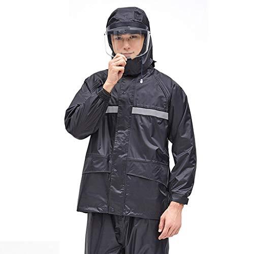 LXLTLB wasserdichte Regenjacke Anzüge Motorrad Radfahren mit Anti-Speichel-Schutzkappe Mäntel Hosen Arbeitskleidung für den Außenbereich Für nasses Wetter Herren/Damen,A,M
