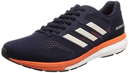 adidas Men's Adizero Boston 7 M Running Shoes, White (Ftwr White/Carbon/Shock Red), 11.5 UK