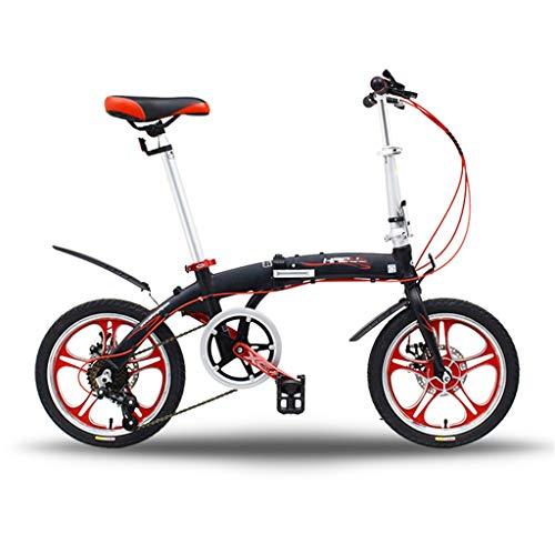TYXTYX Faltrad Klapprad Klappfahrrad 16 Zoll, 6 Gang,leicht, Legierung, klappbar,Citybike/Fahrrad, leicht und robust,Folding City Bike,12 kg