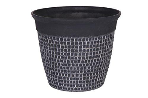 Cera-Mix Pot de Fleurs, Bac à Plante Roca, résistant au Gel et ultraléger, Noir, 50x43cm