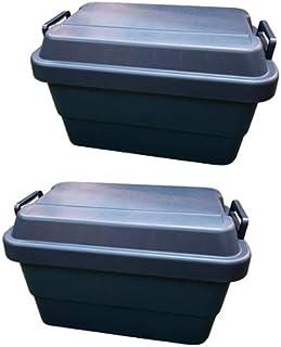 リス 収納ボックス トランクカーゴ 紺 (50Lネイビー×2)