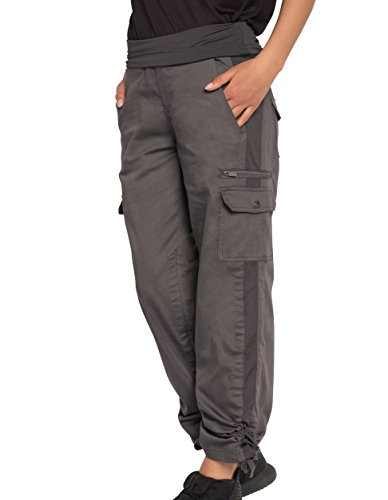 SCOTTeVEST Margaux Cargaux Travel Pants -11 Pockets- Travel Cargo Pants (XL, Gray)