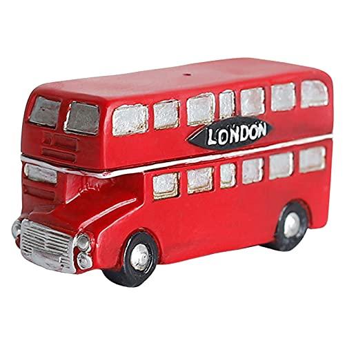 XYHLM Decoración Micropaisajes Escritorio Artesanías Resina Cabinas Telefónicas Autobuses Buzones Correo Regalos para Niños,A
