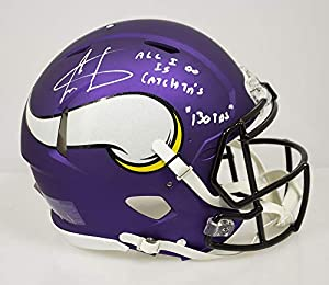 Cris Carter Autographed Signed Minnesota Vikings Full Size Authentic Helmet All I do is Catch TDs And Stats- PSA/DNA Authentic