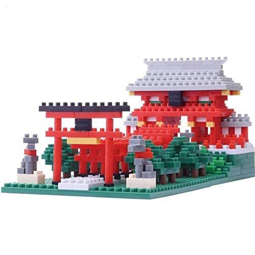 LKITYGF Perfekt Architektonisches Modell Inari Schrein, Micro-Bohrer Kleine Partikel Erwachsene Montiertes Spielzeug, Großmodell Bausteinsatz 530 stücke