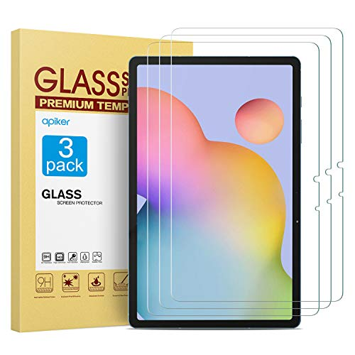 apiker [3 Stück Schutzfolie für Samsung Galaxy Tab S7 [11 Zoll], SamsungGalaxy Tab S7 Panzerglas mit 9H Härte,Bläschenfrei,2.5D abgerundet Kante,einfach anzubringen