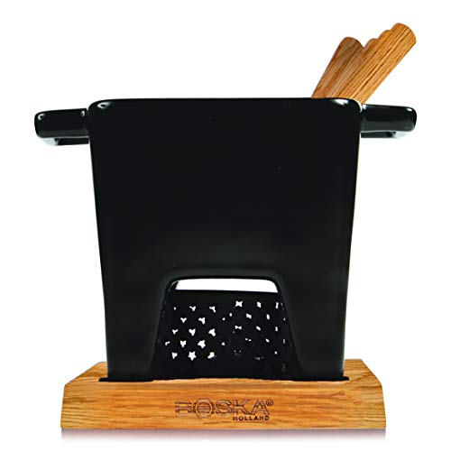 Boska Holland Tealight Fondue Set, For Cheese or Chocolate, Tapas, 400 mL Black, Pro Collection