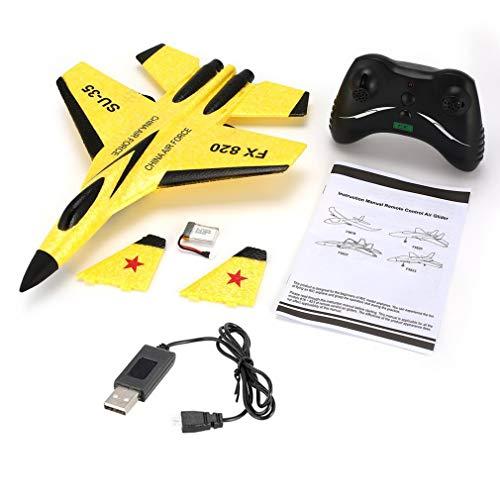 FX FX-820 2.4G Micro Glider 290mm Spanwijdte Fixed Wing Glider RC Vliegtuig RTF Geel