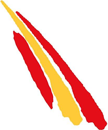 Artimagen Pegatina Bandera Trazo Largo España 110x30 mm.