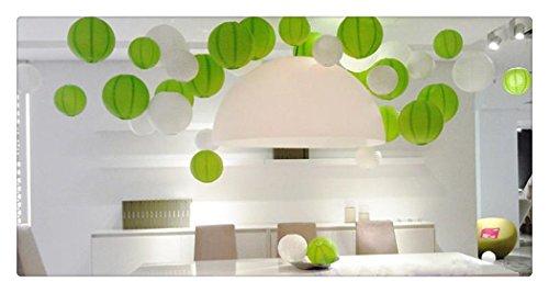 Een Liittle Tree Een Gemengde Papier Lantaarns Wit Groen 24(14x8 +10 x12)