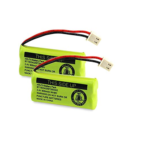 Kruta BT183342 BT283342 BT166342 BT266342 BT162342 BT262342 Battery Compatible with VTech CS6114 CS6419 CS6719 AT&T EL52300 CL80112 VTech CS6719-2 Cordless Handsets (Pack of 2)