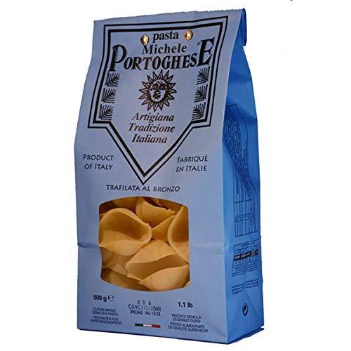 Michele Portoghese Conchiglioni Nudeln, Muschelnudeln groß zum Füllen, Pasta, aus Italien, Hartweizengriess, langsame Trocknung 500 g