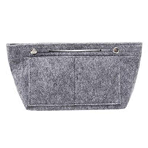WUCHENG Puerto Portátil Multi Bolsillo para O Bag Organizador Cosmético Forro Interior Insertar Bolso Bolso Classic Size Package Accesorios Maquillaje (Color : Gray)