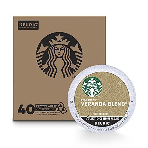 Starbucks Blonde Roast K-Cup Coffee Pods, Blend for Keurig Brewers, Veranda, 40 Count
