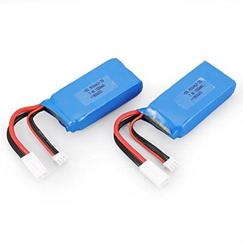 Read About Kongqiabona 2pcs 7.4V 1500mAh Lipo Battery Small Tamiya Plug for FT009 RC Boat Speedboat