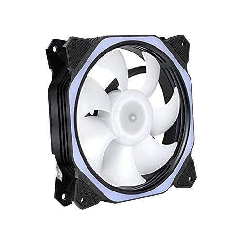 MagiDeal Ventilador de Caja con Iluminación RGB de 120 Mm con Leds Controlados Independientemente, Almohadillas de Goma Absorbentes, Presión Estática PWM para - Conjunto D