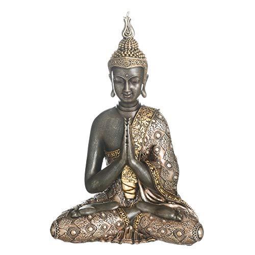 Figura Buda de Resina Dorada exótica de 35x14x24 cm - LOLAhome