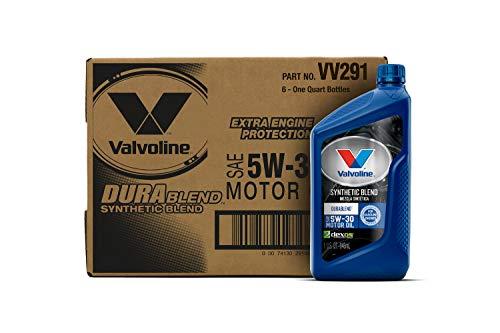 Valvoline  DuraBlend  SAE 5W-30 Synthetic Blend Motor Oil 1 QT, Case of 6