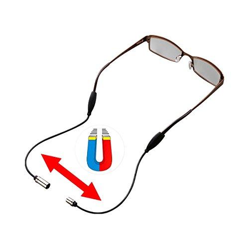 Brillenband magnetisch, Silikonband Brillenkordel Brillenkette Halterung mit Magnetverschluss, elastisches Band, 50 cm lang