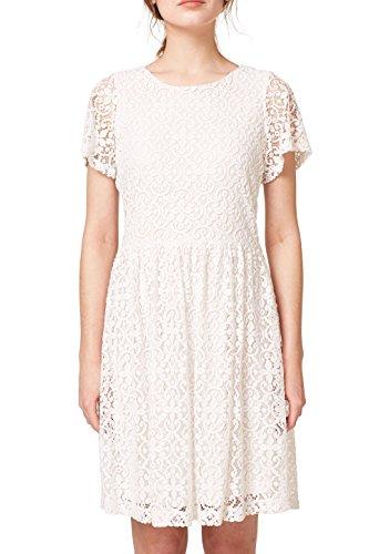 ESPRIT Damen 058EE1E002 Kleid, Weiß (White 100), Small