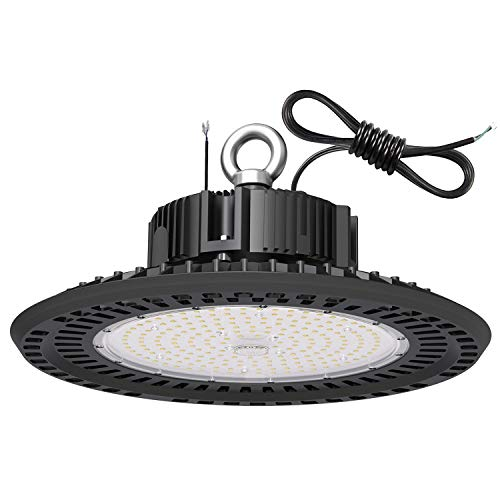 LED High Bay Light Fixture UL Certified Driver 240W UFO High Bay Lighting 5000K 34000LM 1-10V Dimmable IP65 UL Approved 6FT Standard Cable, Widely Used in Warehouse Factory