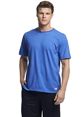 Russell Athletic mens Performance Cotton Short Sleeve T-Shirt, retro heather royal, XL