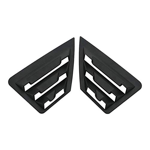 Passend für Toyota C-HR CHR Heckscheibe Dreieck Jalousien Abdeckung Verkleidung Auto Styling ABS CHR matt schwarz 2016–2019 Reparaturteile (matt schwarz)
