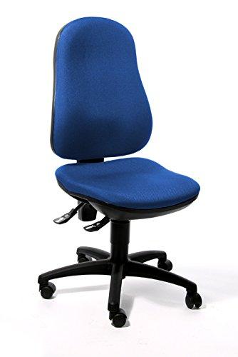 Bürodrehstuhl Bandscheibensitz ergonomisch geformt Schreibtischstuhl Drehstuhl Bürostuhl Blau 210321