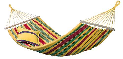 Amazonas EL-1072000 Aruba vanilla Hängematte, Belastbarkeit 180kg, Liegefläche 210 x 120cm
