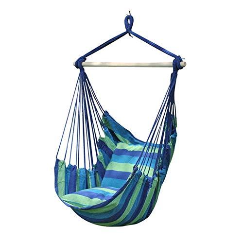 Q-xhc Tragbare Grün Hammock Swing-Stuhl, komfortabel - leicht zu reinigen for Garten/Outdoor (ohne Stöcke), Farbe Namen: Grün