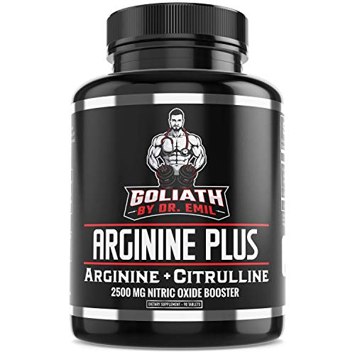 Dr. Emil's ARGININE Plus - L Arginine + L Citrulline - 2500 MG High Dose NO Booster Tablets - Nitric Oxide Supplement for Muscle, Pump and Heart Health (Arginine AAKG and Citrulline Malate 2:1)