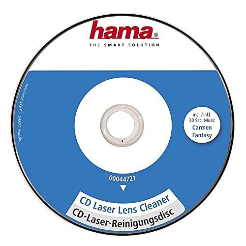 Hama CD de nettoyage (pour tête de lecture laser, pour éliminer la poussière dans les lecteurs de CD, CD de nettoyage au laser) Blanc/Bleu/Rouge