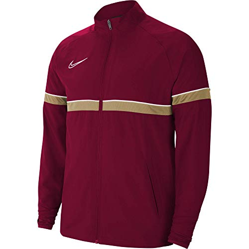 NIKE Dri-FIT Academy, Chaqueta Deportiva Hombre, Opacity, Team Red/White/Jersey Gold/White, L Regular