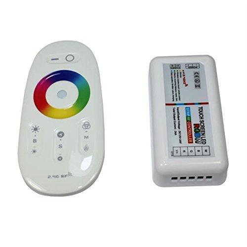 RGBW RGB+W RF Touch Controller Weiss + Touch Fernbedienung 12.24V 10A