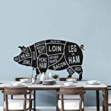 mlpnko Applique Kreative Aufkleber Tierschwein, Wandtattoo