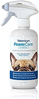 Vetericyn FoamCare Pet Shampoo for Fine Coats Promotes Healthy Skin and Coat - Hypoallergenic with Aloe - Cleans, Moisturizes, and Conditions – Instant Foam Shampoo – 16-Ounce