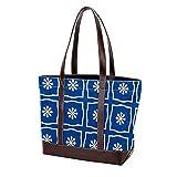 NaiiaN Bolso de mano japonés con flores azules, bolsos cuadrados de hombro para madres, mujeres, niñas, señoras, monedero para estudiantes, bolsos de compras, correa liviana