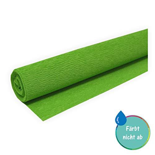 Floristen Krepppapier - Gärtnerkrepp hellgrün 50 x 250 cm ca. 128 g/m² färbt nicht ab bei Kontakt mit Wasser - bleicht nicht aus bei Sonne