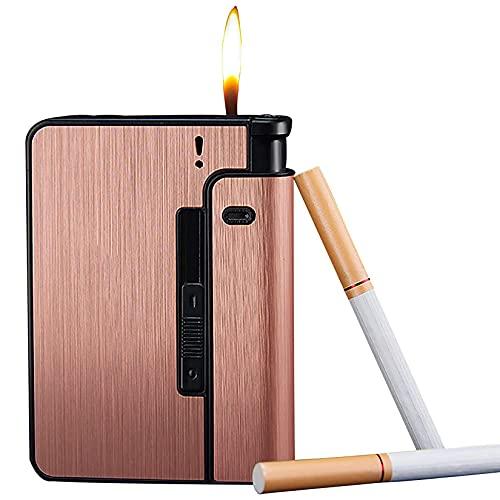 HHYHOME Estuche para Cigarrillos 2 En 1,Cigarrillos De Expulsión Automática, Resistente Al Viento Y A La Humedad, Fácil De Reemplazar,para 9 Cigarrillos Regulares,Regalos De Cigarros para Hombres,B