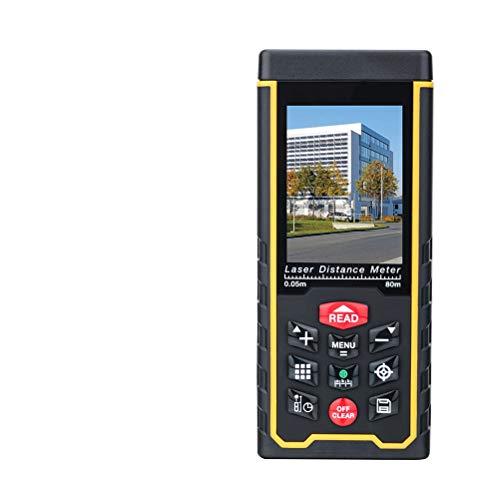 Release 80M120M medidor de Distancia láser 400 pies telémetro de Mano Dispositivo de medición de Cinta telémetro cámara LCD batería Recargable (Size : 80M)