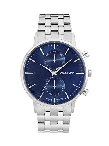 Gant Herren Analog Quarz Uhr mit Edelstahl Armband W11206