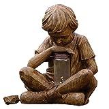GECOKU Estatua de prodigio innovadora decoración de jardín Arte Artesanal de Resina, Estatua de Resina de jardín, caprichoso jardín de Flores decoración de Escultura al Aire Libre