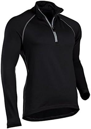 ColdPruf Men s Quest Performance Activewear Quarter Zip Mock Neck Top product image