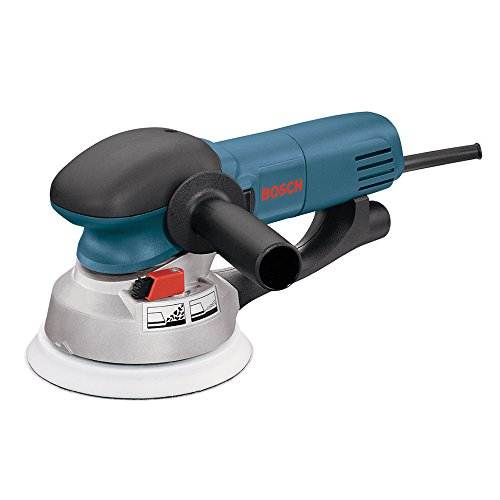 Bosch Power Tools - 1250DEVS - Electric Orbital Sander, Polisher - 6.5 Amp, Corded, 6'' Disc Size - features Two Sanding Modes: Random Orbit, Aggressive Turbo for Woodworking, Polishing, Carpentry