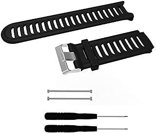 Pulseira de Silicone Preta Adulto Para Relógio Garmin Forerunner 910XT