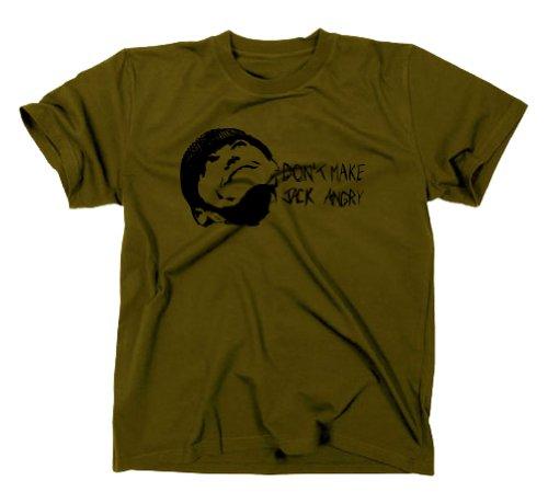 styletex23 - Maglietta a Maniche Corte, Motivo: Qualcuno volò sul Nido del cuculo [Lingua Tedesca], Verde (Verde), XXL