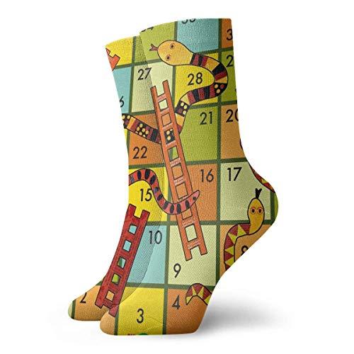 BEDKKJY bemanning sokken winnen een slangen en ladders spel aangepaste gepersonaliseerde unisex sport Stocking Decor sok voor vrouw