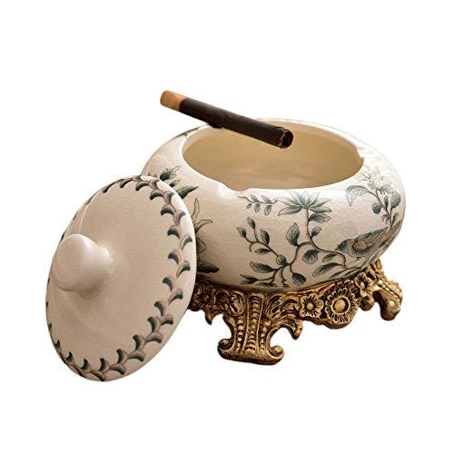 YOYT Cenicero de cerámica Moda Creativa Bandeja de Almacenamiento Europea Placa de Fruta Artesanía Regalo de joyería