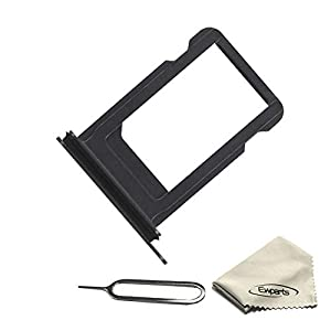 Ewparts for iPhone 7 Plus Sim Card Tray Replacement with Waterproof Rubber /& Eject Pin Black