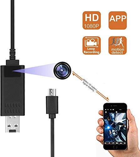 Überwachungskamera 1080P USB-Datenkabel Überwachungskamera mit Bewegungserkennung, Mini-Kamera, App-Steuerung für Android 10M Stabiles Signal